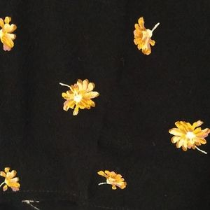 Madewell Black Golden Daisy Top Adorable 3X NWT